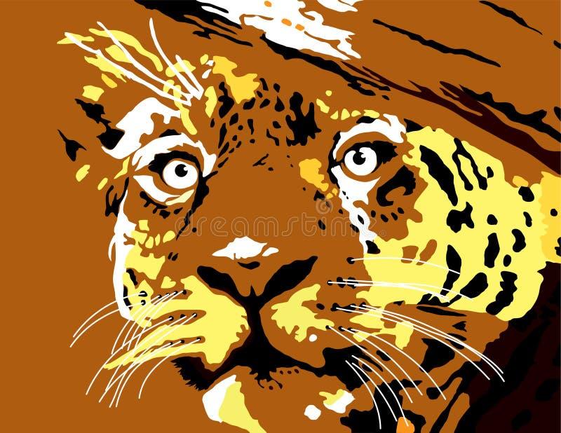 Illustrazione del fronte della tigre fotografia stock