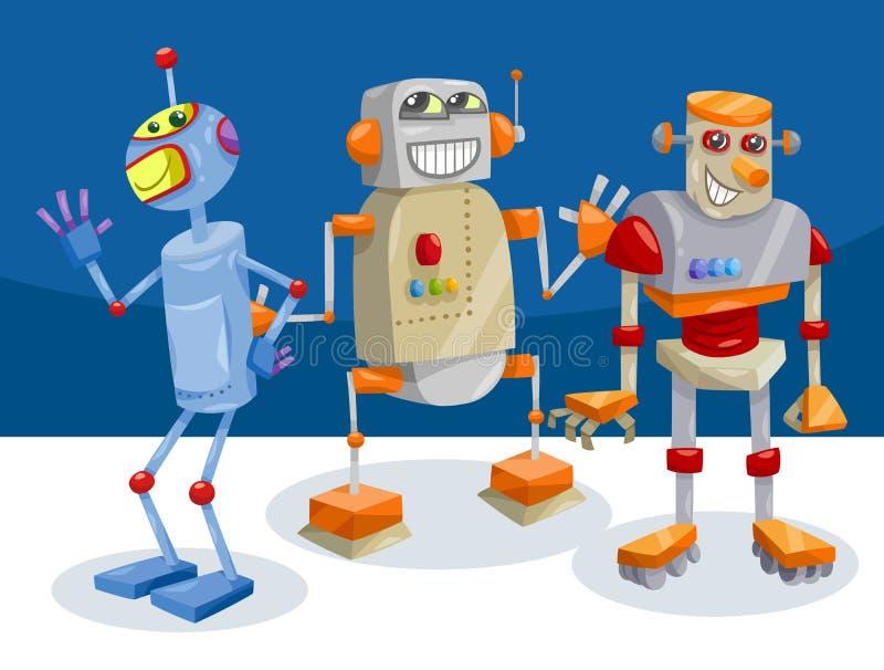 Illustrazione del fumetto dei caratteri del robot di fantasia illustrazione di stock