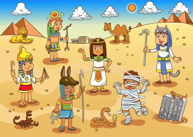 Illustrazione del fumetto del bambino dell'egitto royalty illustrazione gratis