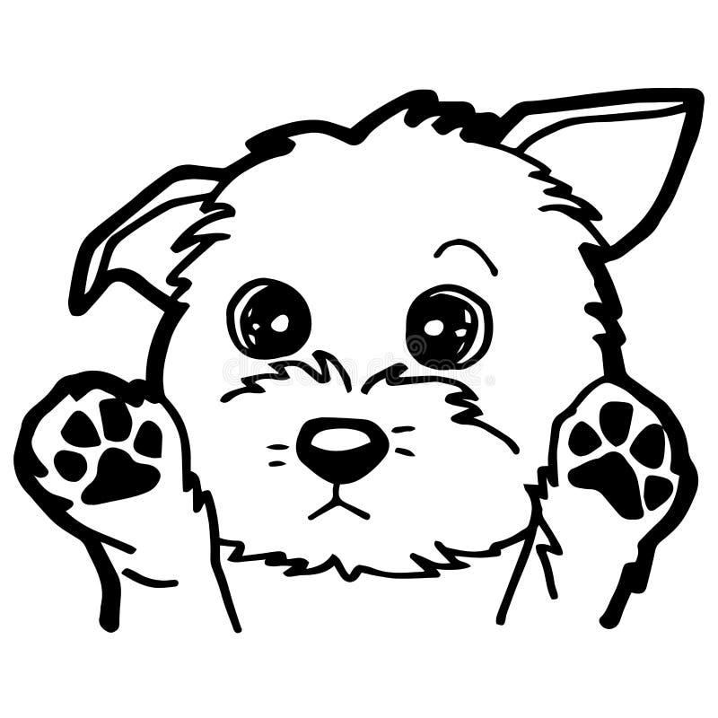 Illustrazione Del Fumetto Del Cane Divertente Per Il Libro Da
