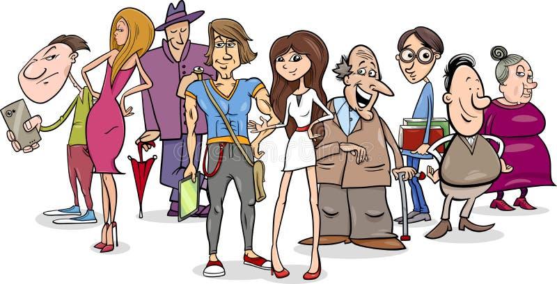 Illustrazione del fumetto del gruppo della gente royalty illustrazione gratis