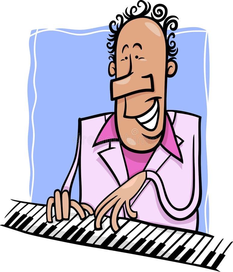Illustrazione del fumetto del pianista di jazz royalty illustrazione gratis