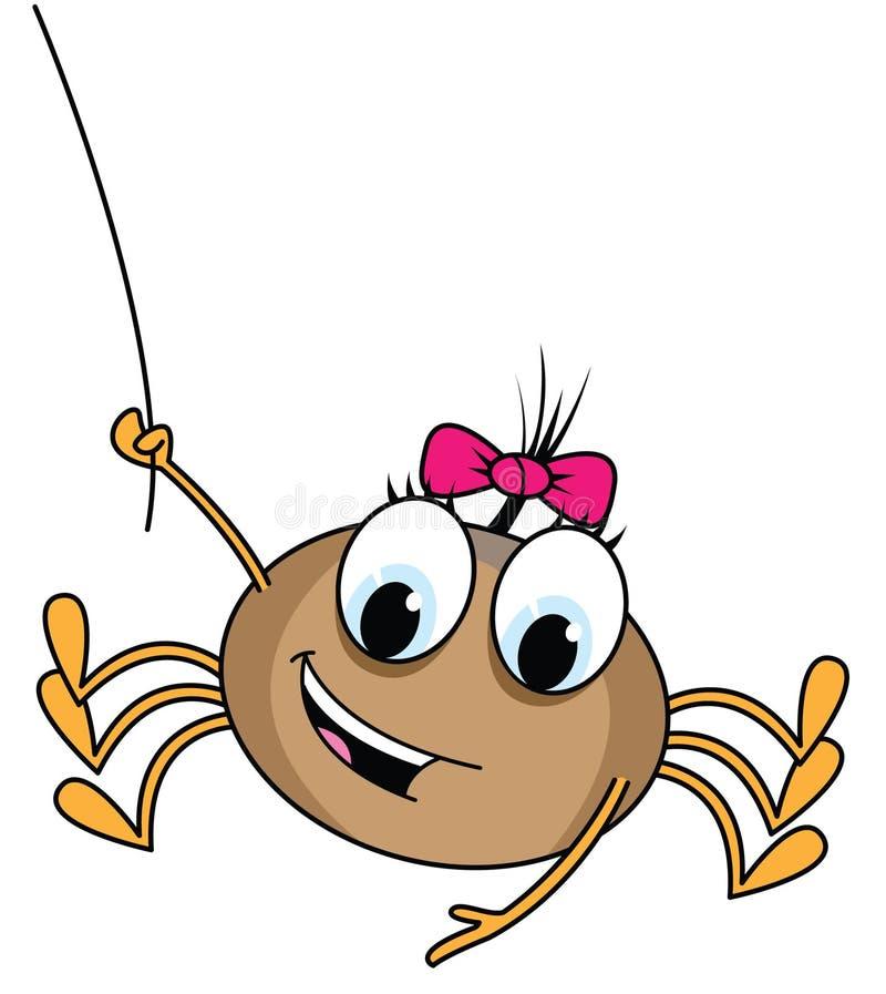 Illustrazione del fumetto del ragno illustrazione di stock