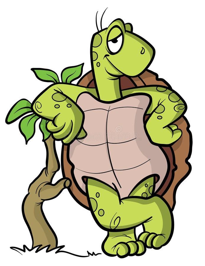Illustrazione del fumetto del tortoise o della tartaruga illustrazione vettoriale