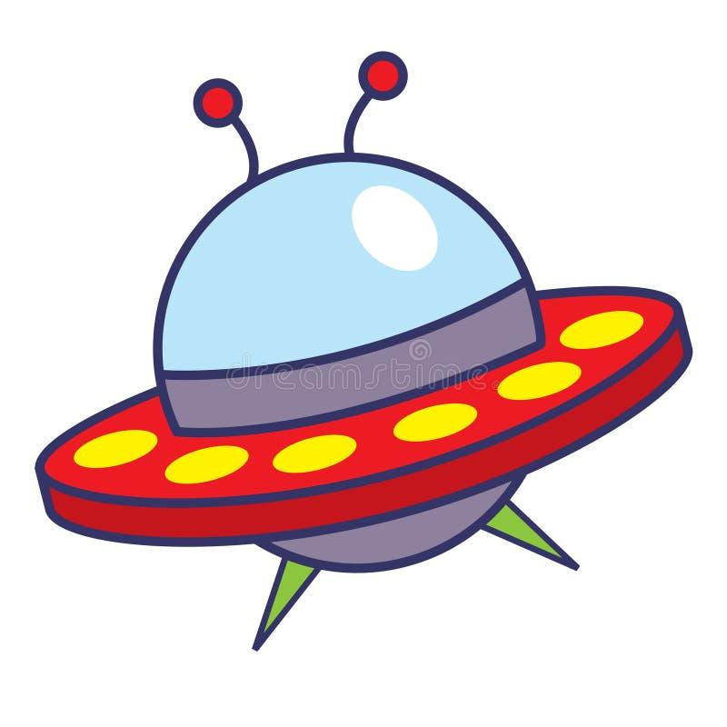 Illustrazione del fumetto della nave spaziale fotografia stock libera da diritti