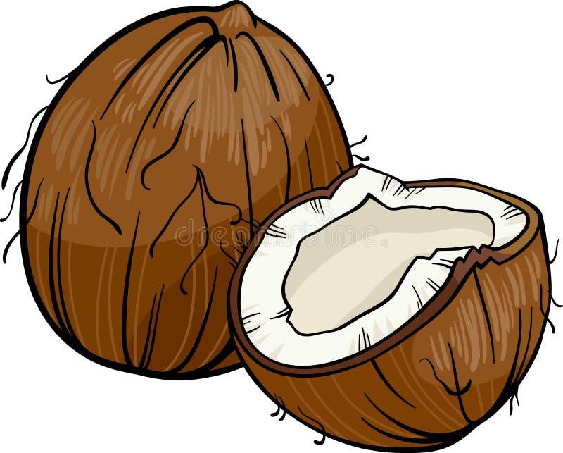 Illustrazione del fumetto della noce di cocco illustrazione vettoriale