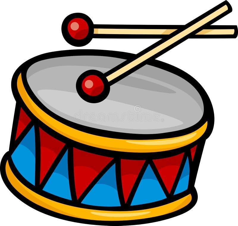 Illustrazione del fumetto di clipart del tamburo illustrazione vettoriale