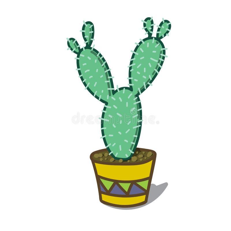 Illustrazione del fumetto di un albero del cactus fotografia stock