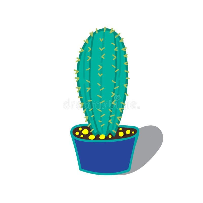 Illustrazione del fumetto di un albero del cactus immagini stock libere da diritti