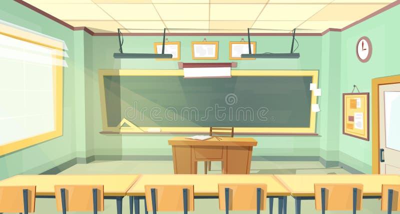 Illustrazione del fumetto di vettore dell'aula dell'istituto universitario illustrazione di stock