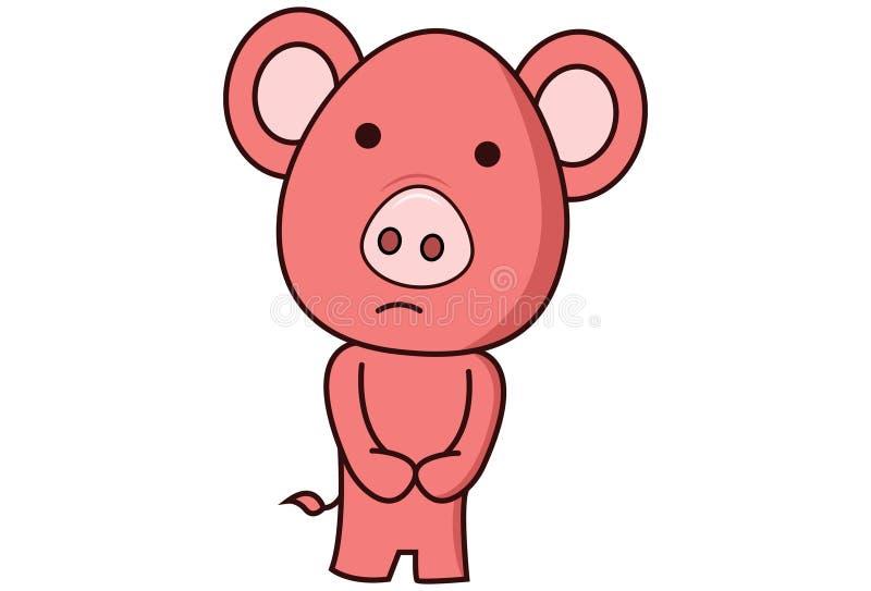 Illustrazione del fumetto di vettore del maiale illustrazione di stock