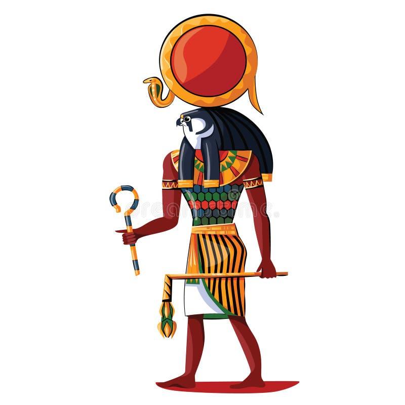Illustrazione del fumetto del Ra del dio di sole di egitto antico royalty illustrazione gratis