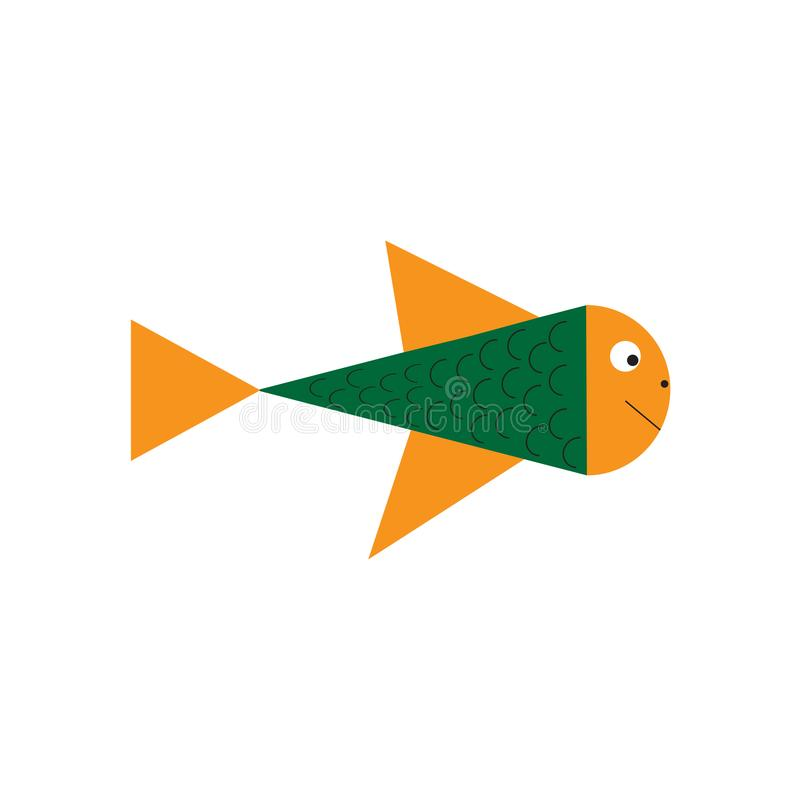 Illustrazione del fumetto sveglio del pesce Innesta l'icona royalty illustrazione gratis