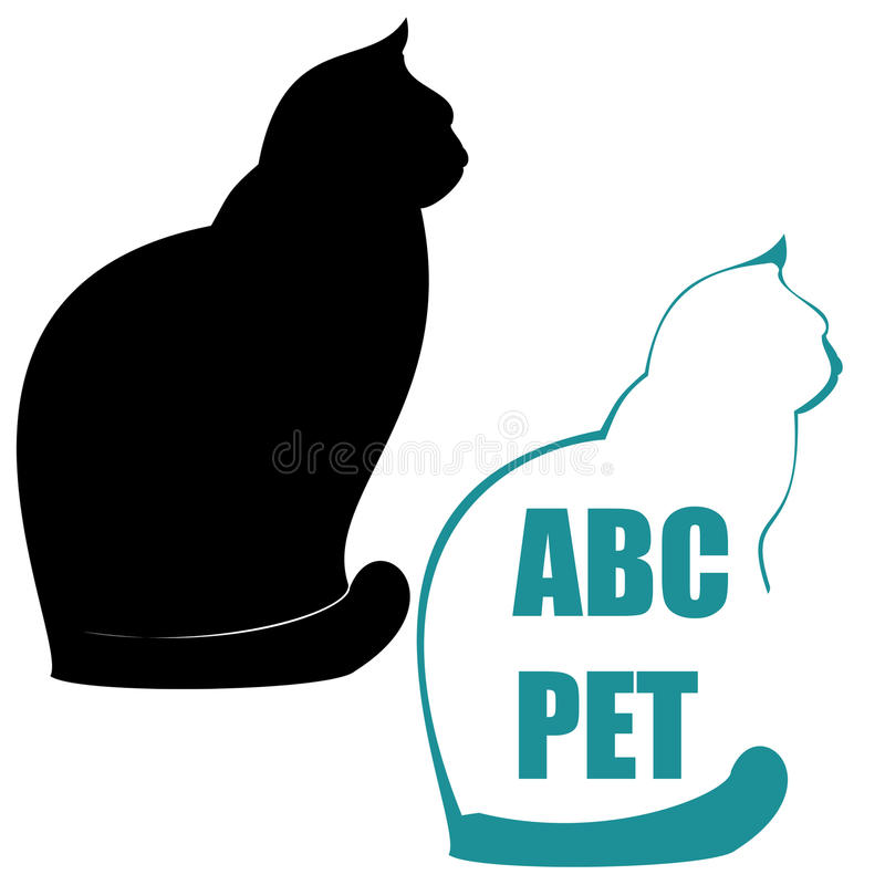 Illustrazione del gatto. illustrazione di stock
