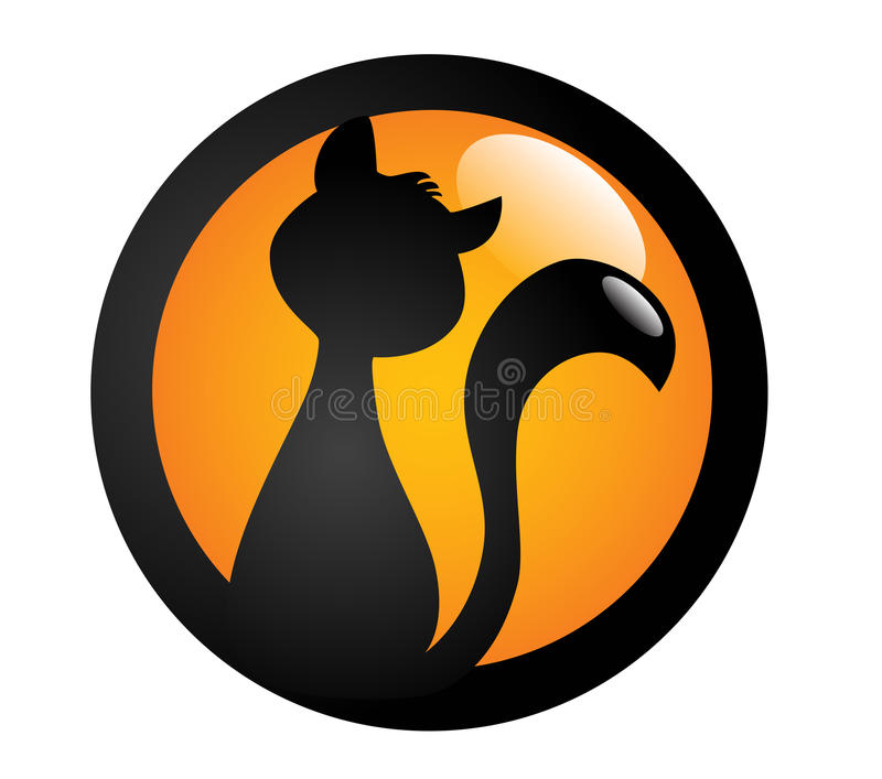 Segno del gatto nero immagini stock libere da diritti
