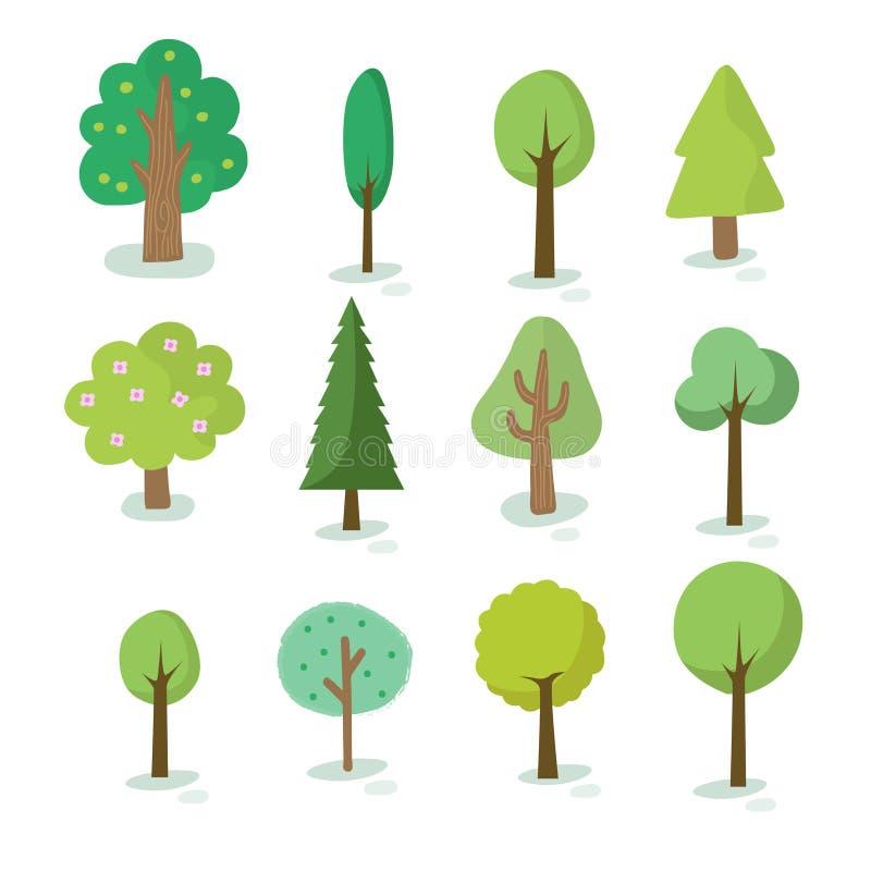 Illustrazione del genere differente di albero royalty illustrazione gratis