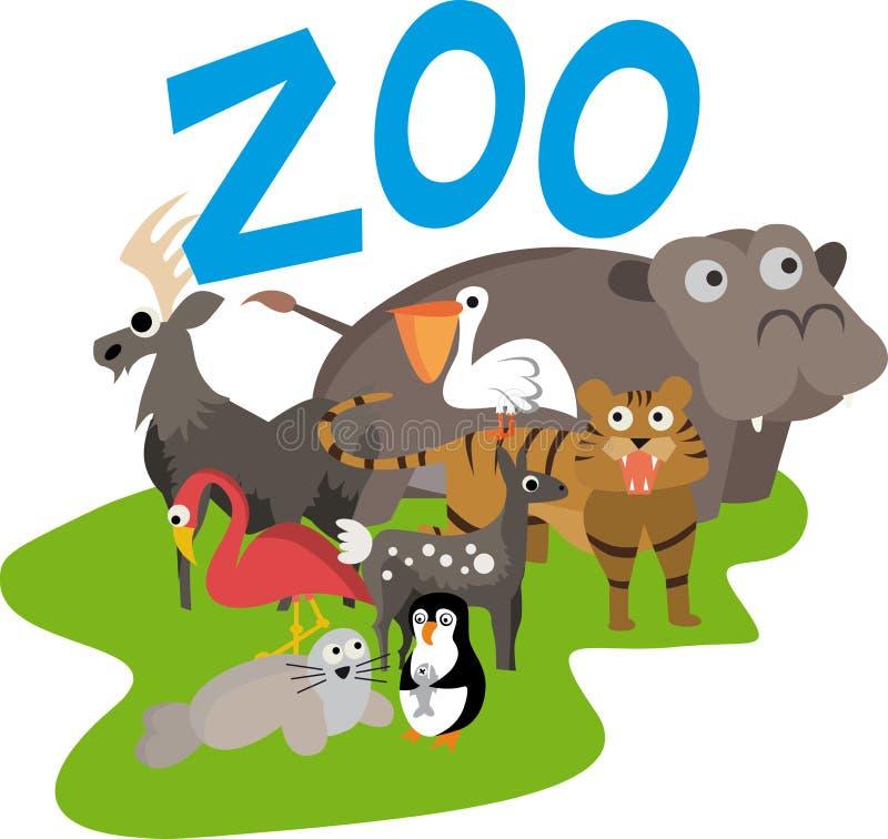 Illustrazione del giardino zoologico illustrazione vettoriale