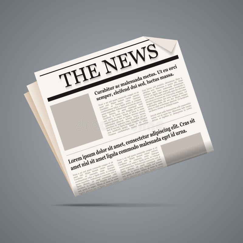 Illustrazione del giornale. illustrazione di stock