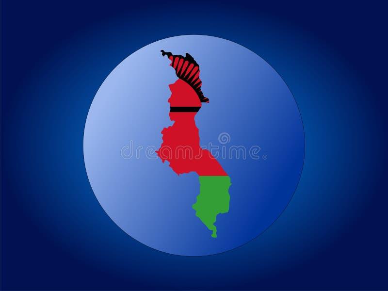 Illustrazione del globo del Malawi illustrazione vettoriale