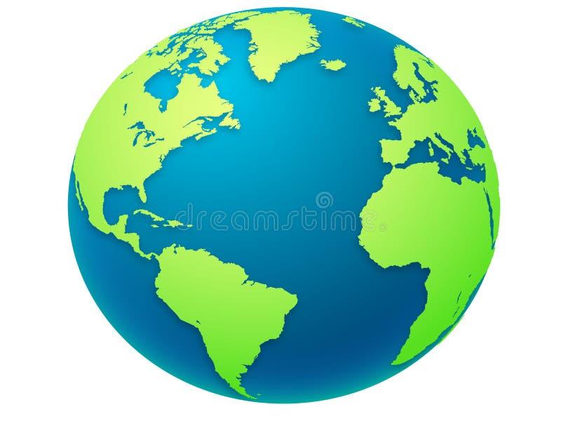 Illustrazione del globo della terra immagine stock