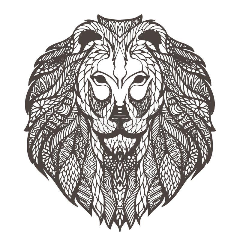Illustrazione del grafico di vettore della testa di un leone illustrazione di stock