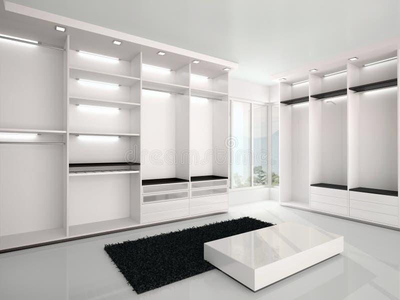 illustrazione del guardaroba bianco lussuoso in uno stile moderno royalty illustrazione gratis