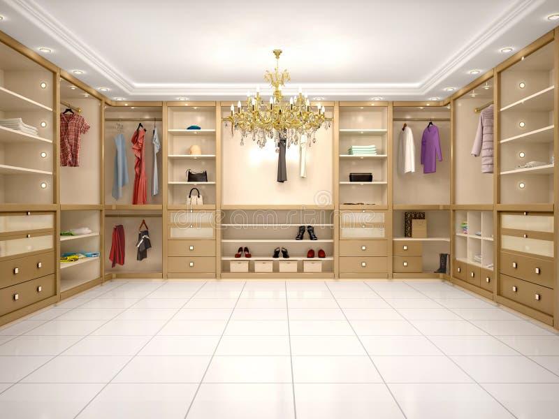 illustrazione del guardaroba di lusso nello stile moderno illustrazione vettoriale