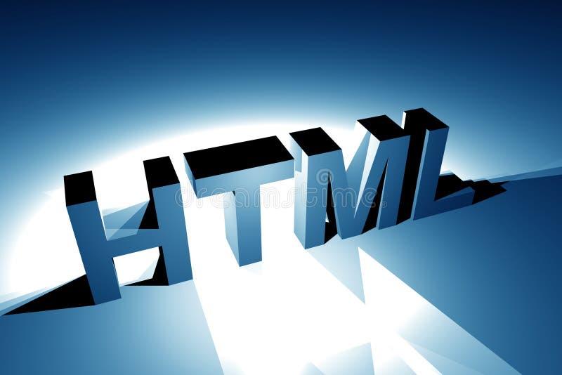 Illustrazione del HTML 3D illustrazione vettoriale