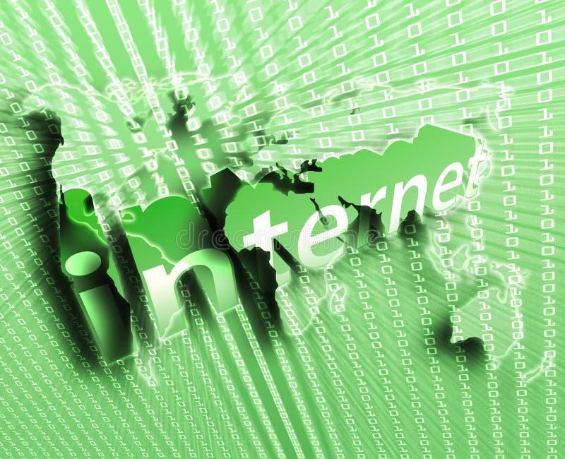 Illustrazione del Internet illustrazione vettoriale