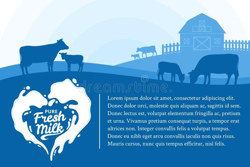 Illustrazione del latte di vettore illustrazione vettoriale