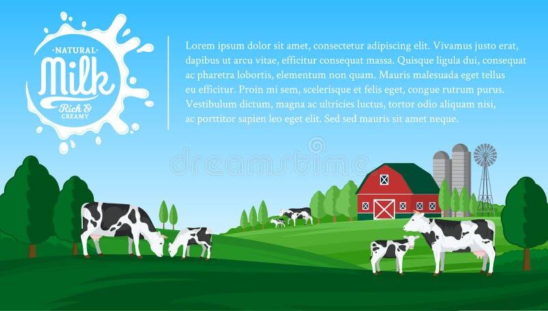 Illustrazione del latte di vettore royalty illustrazione gratis