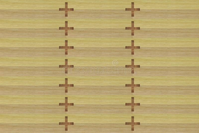 Illustrazione del legno invecchiata fondo della superficie ruvida - Modello senza cuciture illustrazione di stock