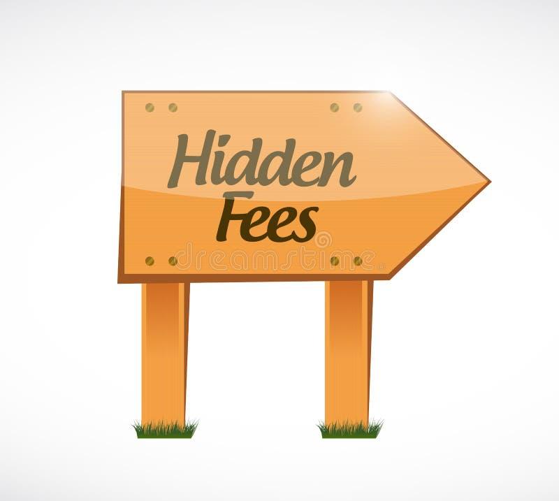 illustrazione del legno nascosta di concetto del segno delle tasse illustrazione di stock