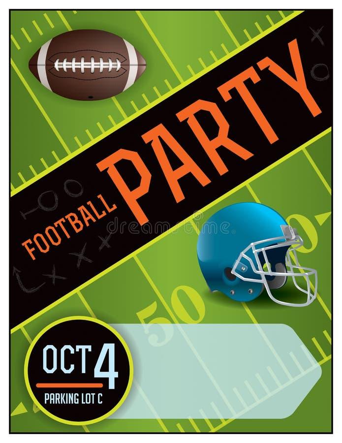 Illustrazione del manifesto del partito di football americano illustrazione di stock
