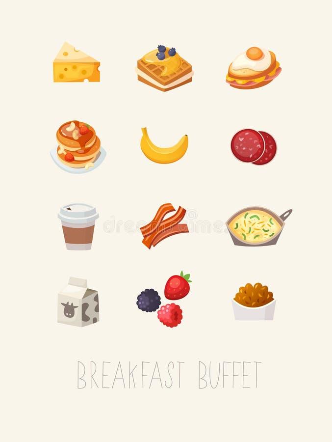 Illustrazione del manifesto della prima colazione royalty illustrazione gratis