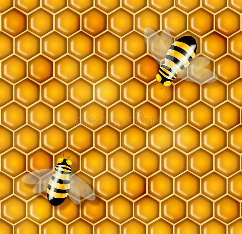 Illustrazione del miele fotografie stock