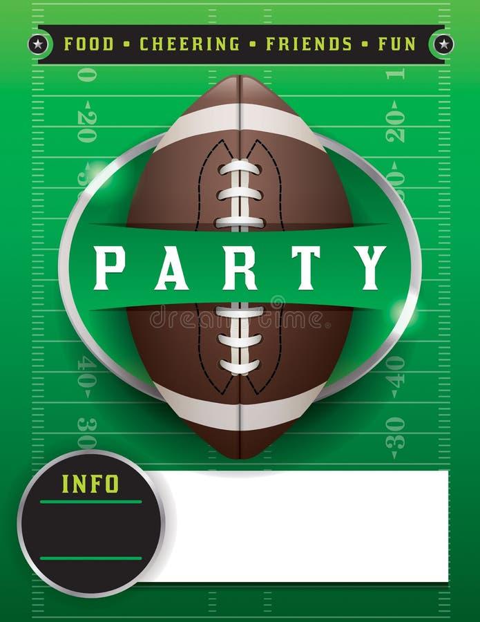 Illustrazione del modello del partito di football americano royalty illustrazione gratis
