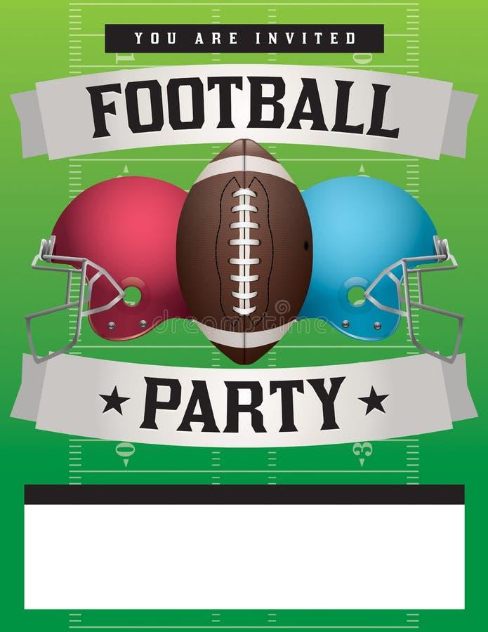 Illustrazione del modello del partito di football americano illustrazione vettoriale