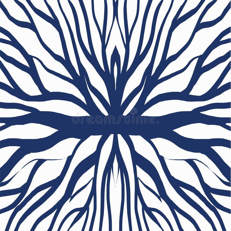 Illustrazione del modello della radice per il tessuto e la stampa illustrazione vettoriale
