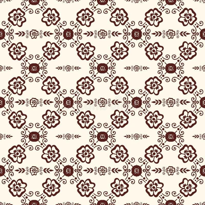 Illustrazione del modello di Mehendi royalty illustrazione gratis