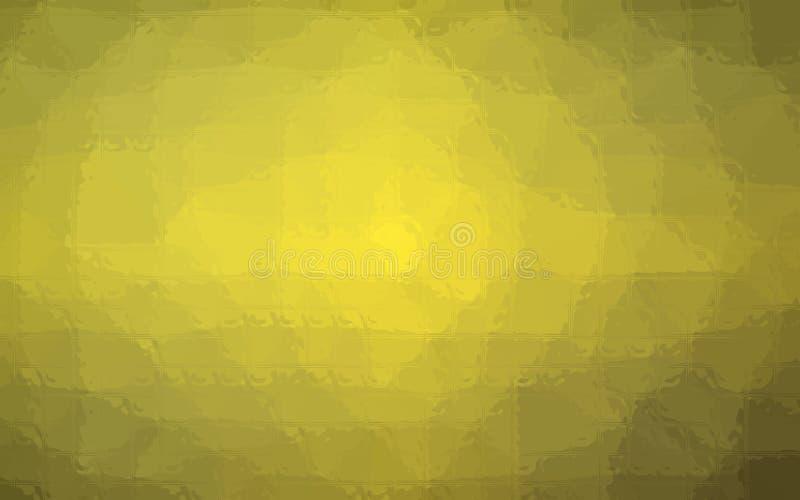 Illustrazione del mosaico giallo e nero attraverso il fondo dei mattoni di vetro royalty illustrazione gratis