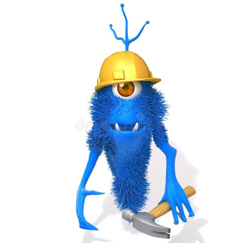 Illustrazione del muratore 3d del mostro royalty illustrazione gratis