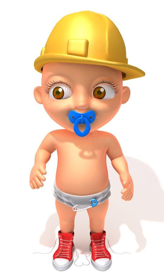 Illustrazione del muratore 3d di Jake del bambino illustrazione vettoriale