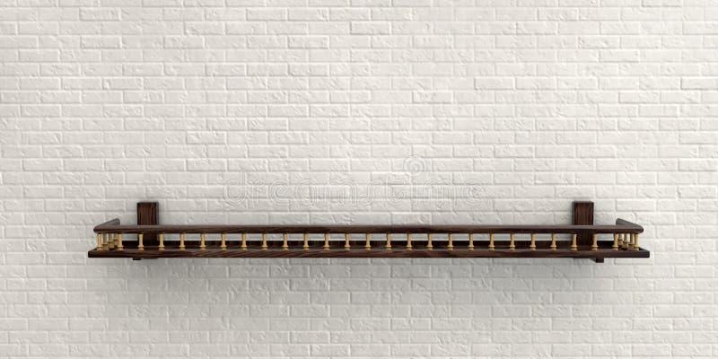 Illustrazione del muro di mattoni nebbioso bianco per fondo o struttura illustrazione di stock