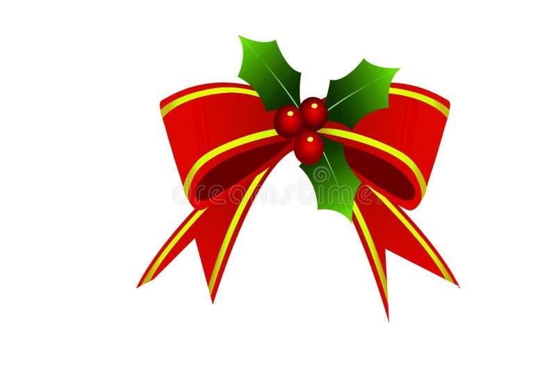 Illustrazione del nastro per il giorno di Natale fotografia stock libera da diritti