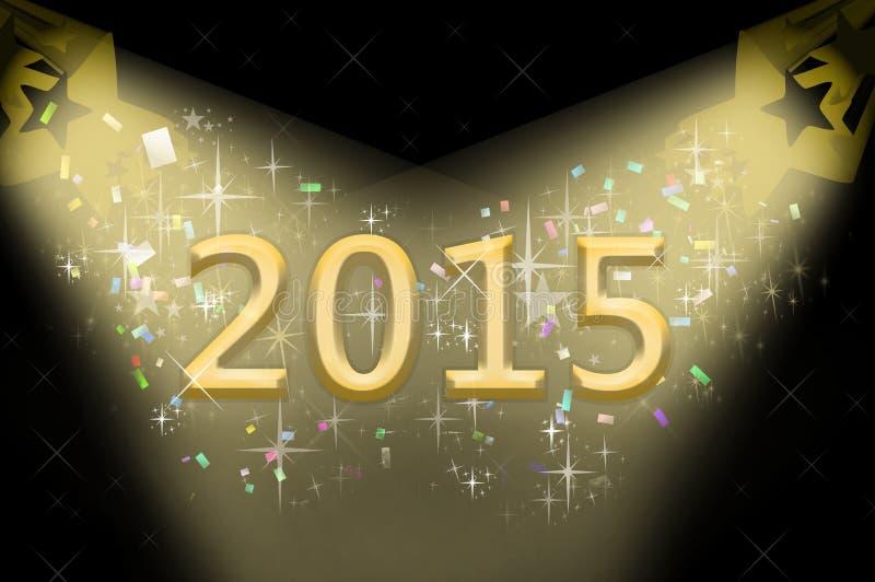 Illustrazione 2015 del nuovo anno fotografia stock libera da diritti