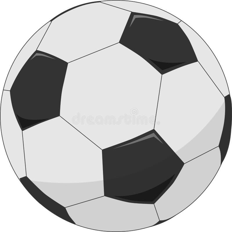 Illustrazione del pallone da calcio illustrazione vettoriale