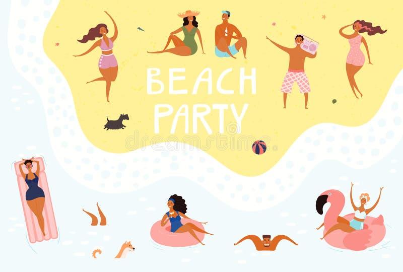 Illustrazione del partito della spiaggia royalty illustrazione gratis