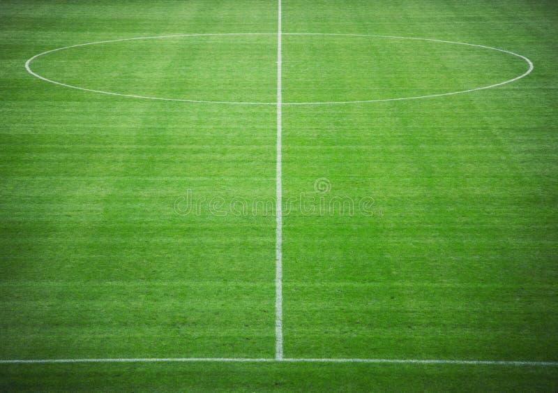 Illustrazione del passo di calcio pitch immagini stock