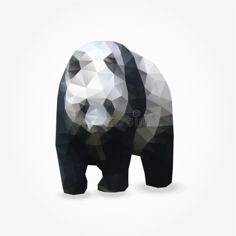 Illustrazione del poligono del panda gigante, illustrazione vettoriale